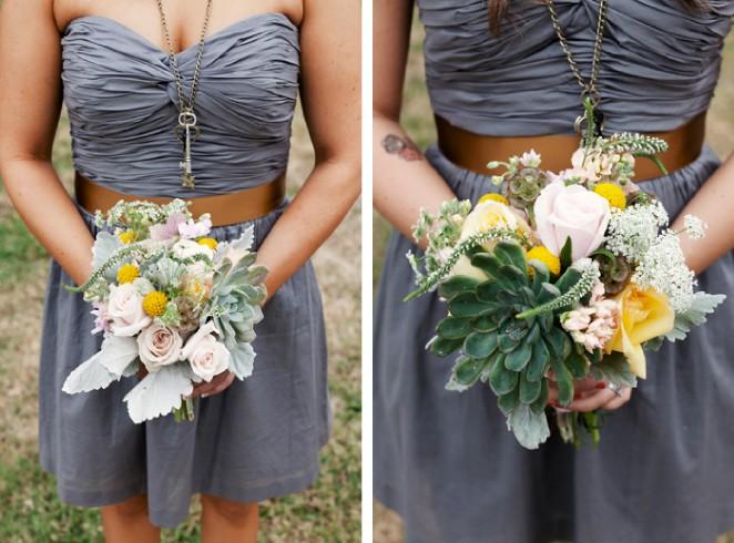 Mississippi Florist Bridemaid's Bouquest with Succulents